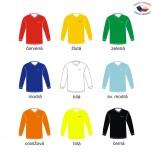 Fotbalové dresy VONO jednobarevné – dlouhý rukáv