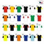 Fotbalové dresy VONO dvoubarevné - krátký rukáv