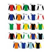 Fotbalové dresy VONO dvoubarevné – dlouhý rukáv