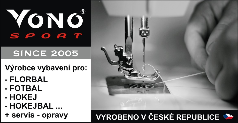 Firma VONO sport s.r.o. byla založena roku 2005. Zaměřujeme se na výrobu vybavení pro florbal, fotbal, hokej, nohejbal aj.